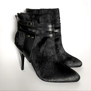 NWOB JAY ADONI black calf hair booties size 8